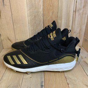 Adidas ICON V BASEBALL CLEATS BLACK/WHITE/GOLD